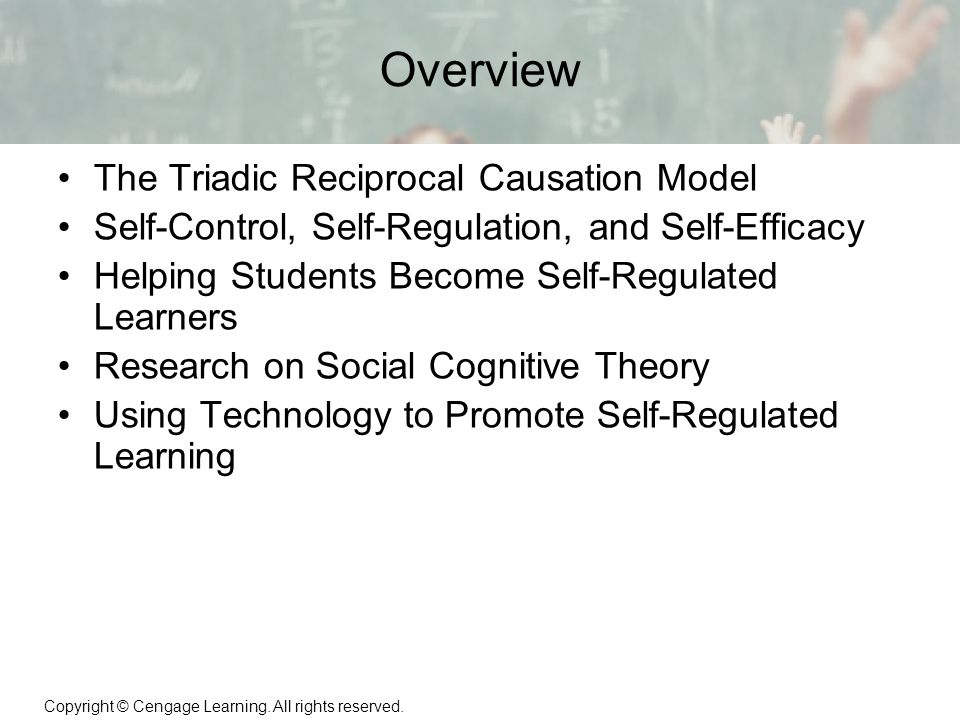 Social cognitive theory on self regulation