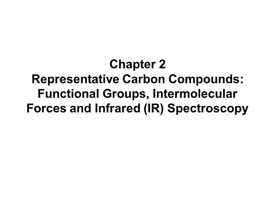 Chapter 2 Representative Carbon Compounds Functional Groups – Carbon Compounds Worksheet