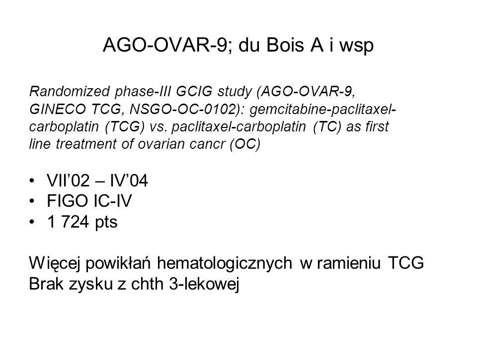AGO-OVAR-9; du Bois A i wsp