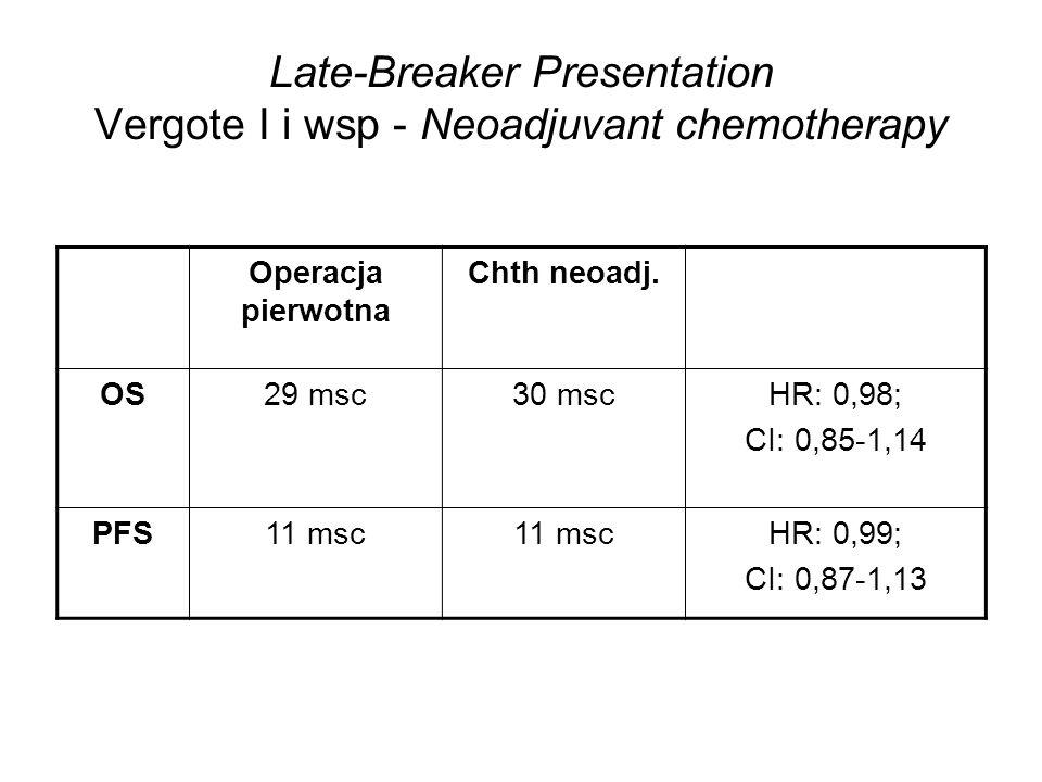 Late-Breaker Presentation Vergote I i wsp - Neoadjuvant chemotherapy