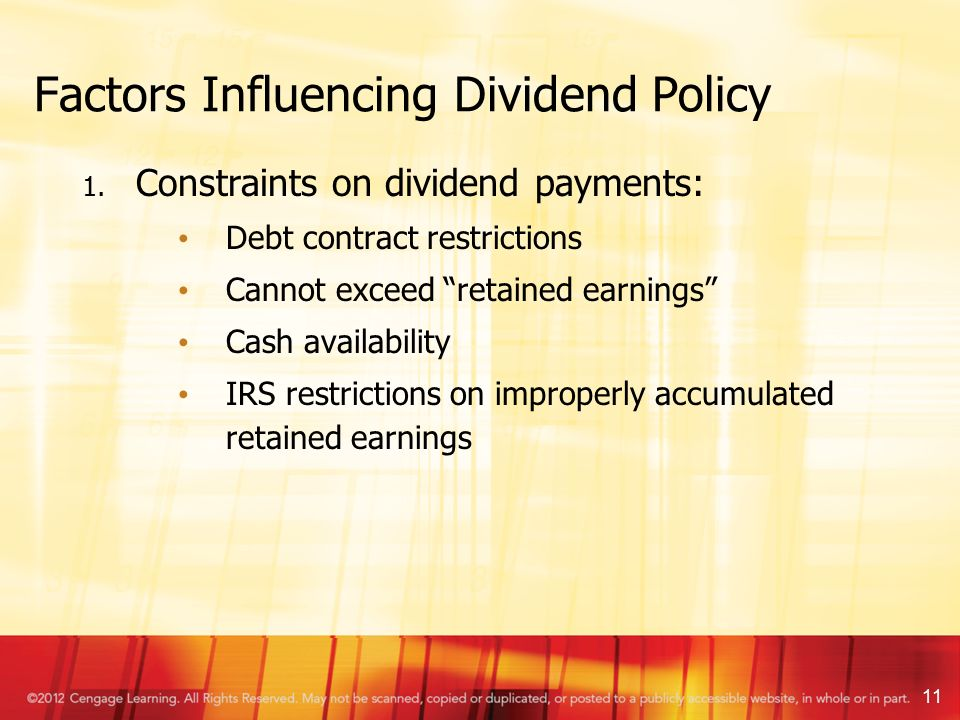 dynamics and determinants of dividend policy Dividend policy determinants of australian mcs and dcs shumi akhtar ¾ the dynamics of australian mcs and dcs capital structure determinants.