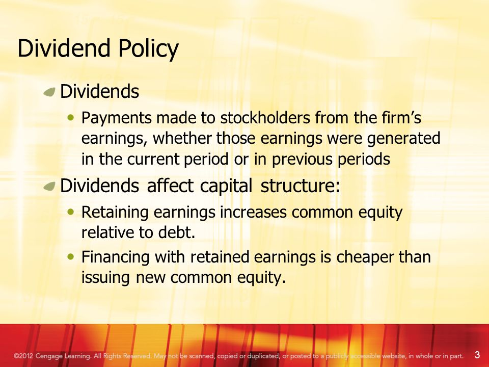 effects of dividend policy Abstract this study investigates the effects of dividend policy on market value  empirically the research data is collected from 45 firms in the tehran security.