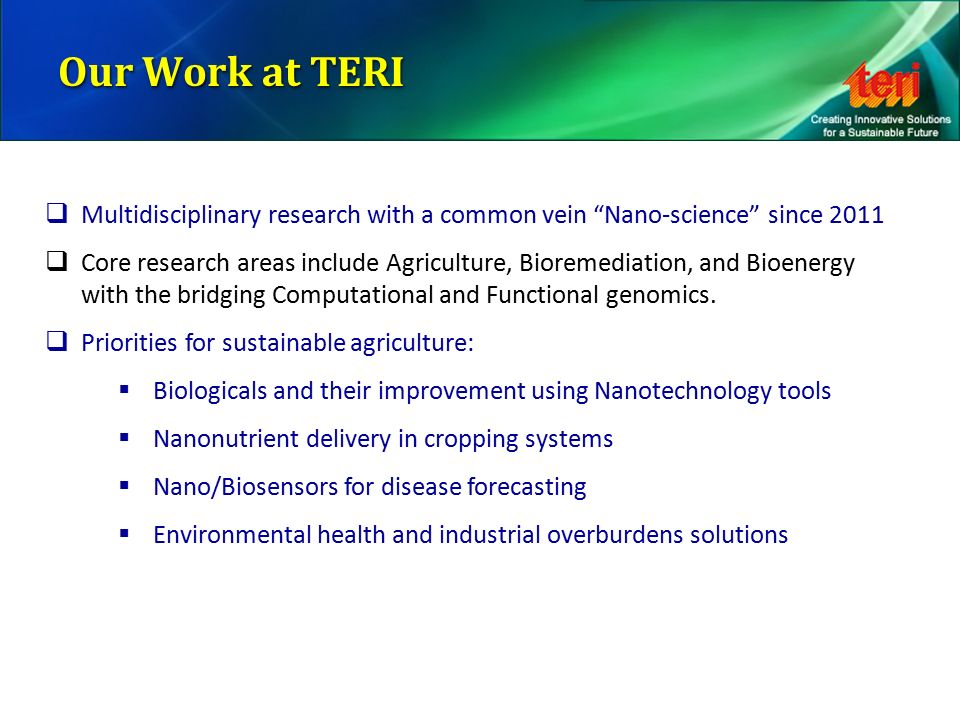 Transformation Of Agriculture Through Bionanotechnology
