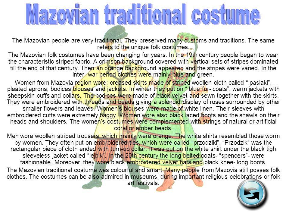 Mazovian traditional costume