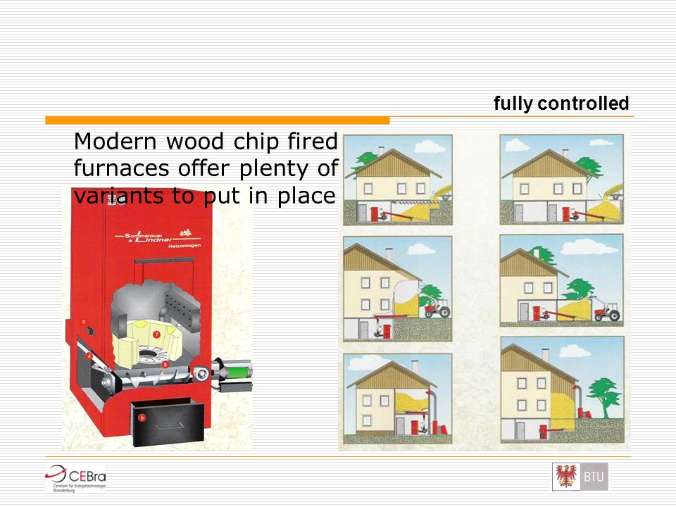 fully controlled Modern wood chip fired furnaces offer plenty of variants to put in place