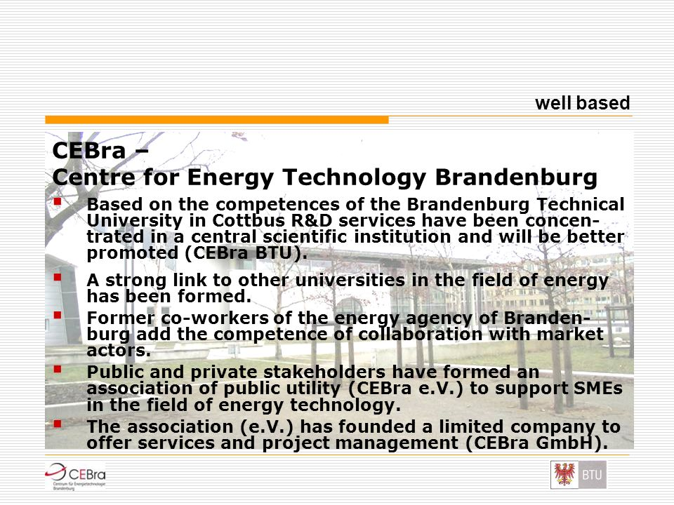 CEBra – Centre for Energy Technology Brandenburg