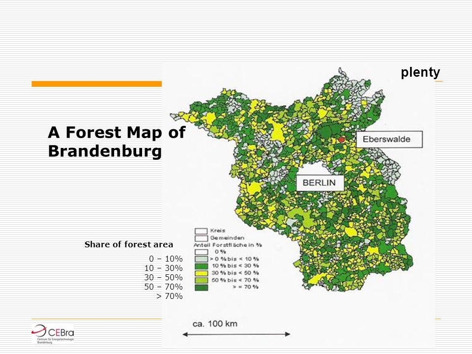 A Forest Map of Brandenburg