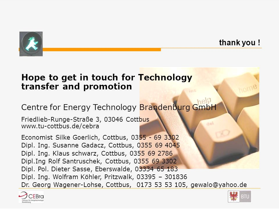 Hope to get in touch for Technology transfer and promotion