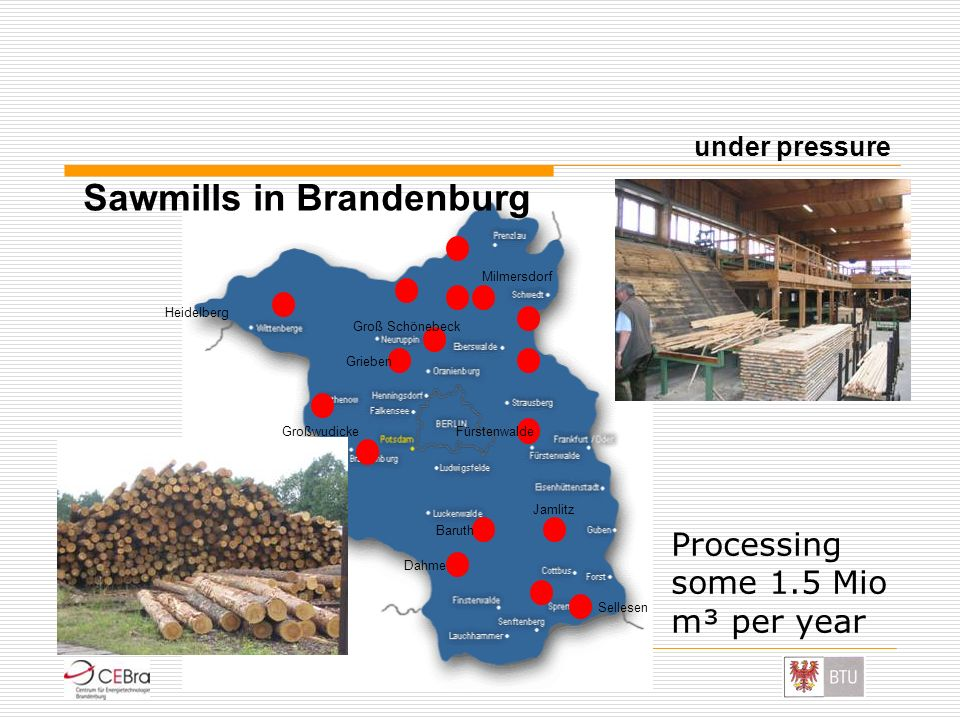 Sawmills in Brandenburg