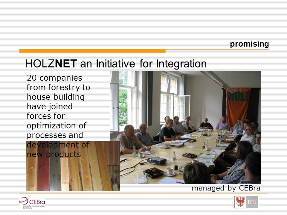 HOLZNET an Initiative for Integration