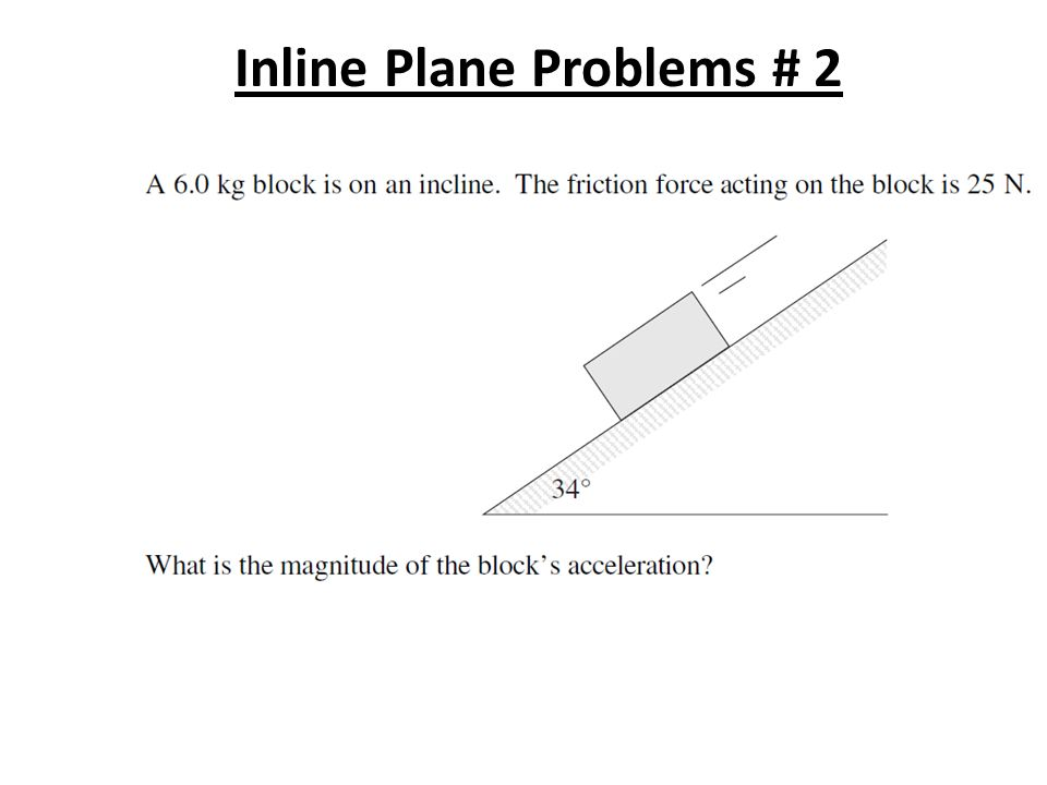how to solve an incline plane problem