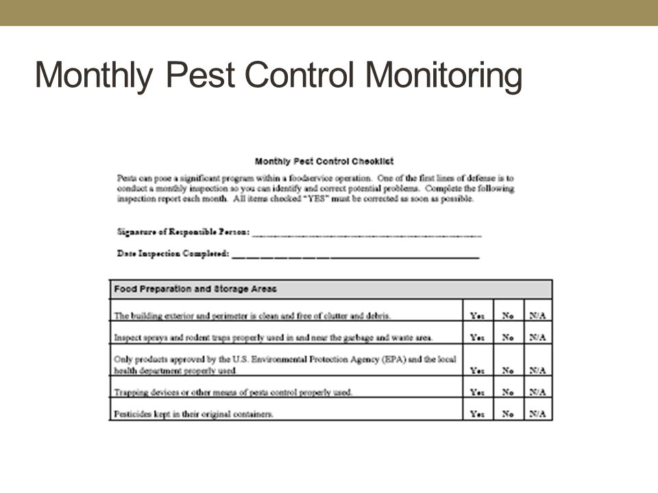 Hazard analysis critical control point ppt download for Pest management plan template