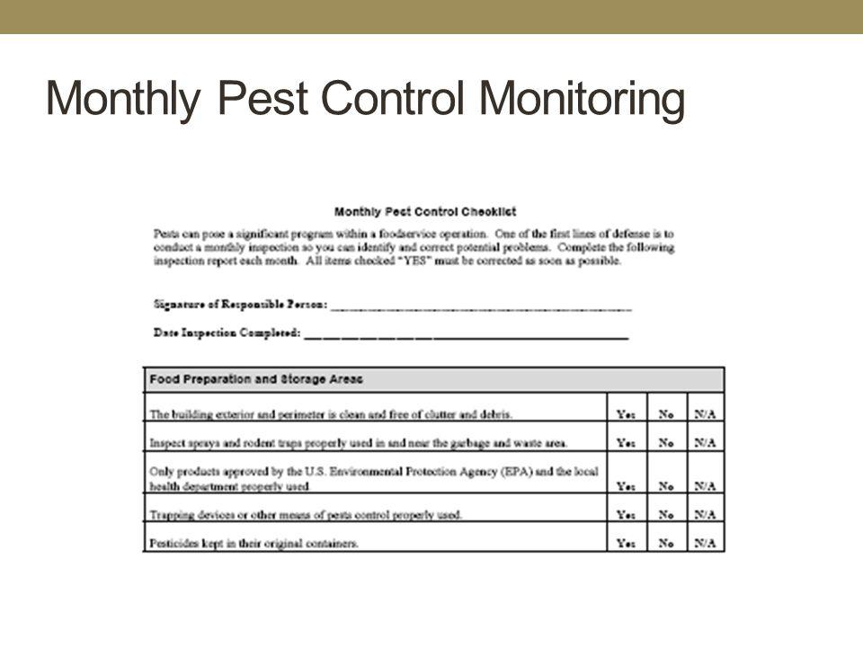 pest management plan template - hazard analysis critical control point ppt download
