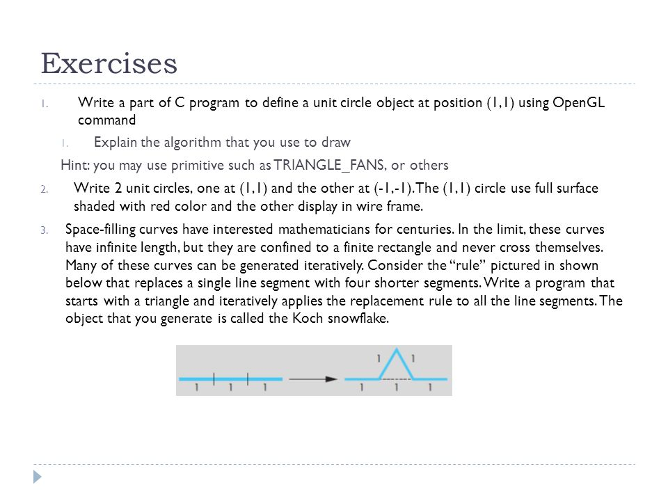 Line Drawing Algorithm Using Opengl : Basic of computer graphics with opengl ppt download