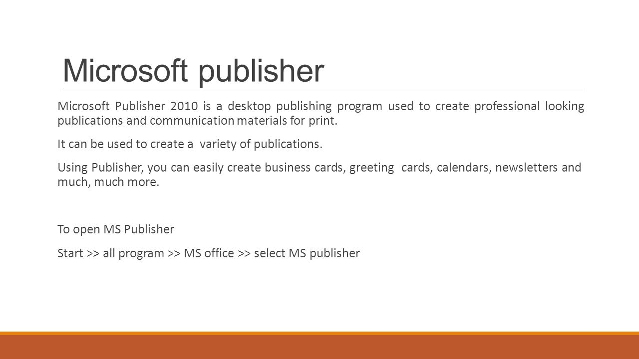 Introduction to Microsoft publisher - ppt video online download