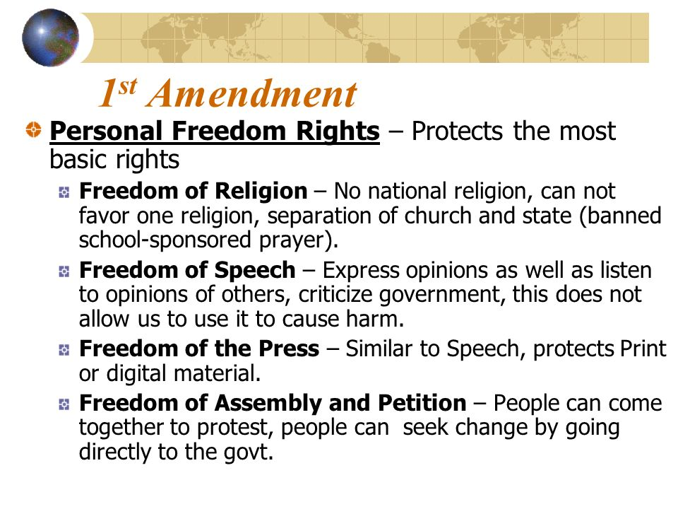 a personal opinion on the freedom in the united states Citizenship is the common thread that connects all americans we are a nation bound not by race or religion, but by the shared values of freedom, liberty, and equality throughout our history, the united states has welcomed newcomers from all over the world.