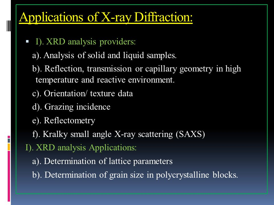 Unit Ii X Ray Diffraction Basic Principles Bragg S Law