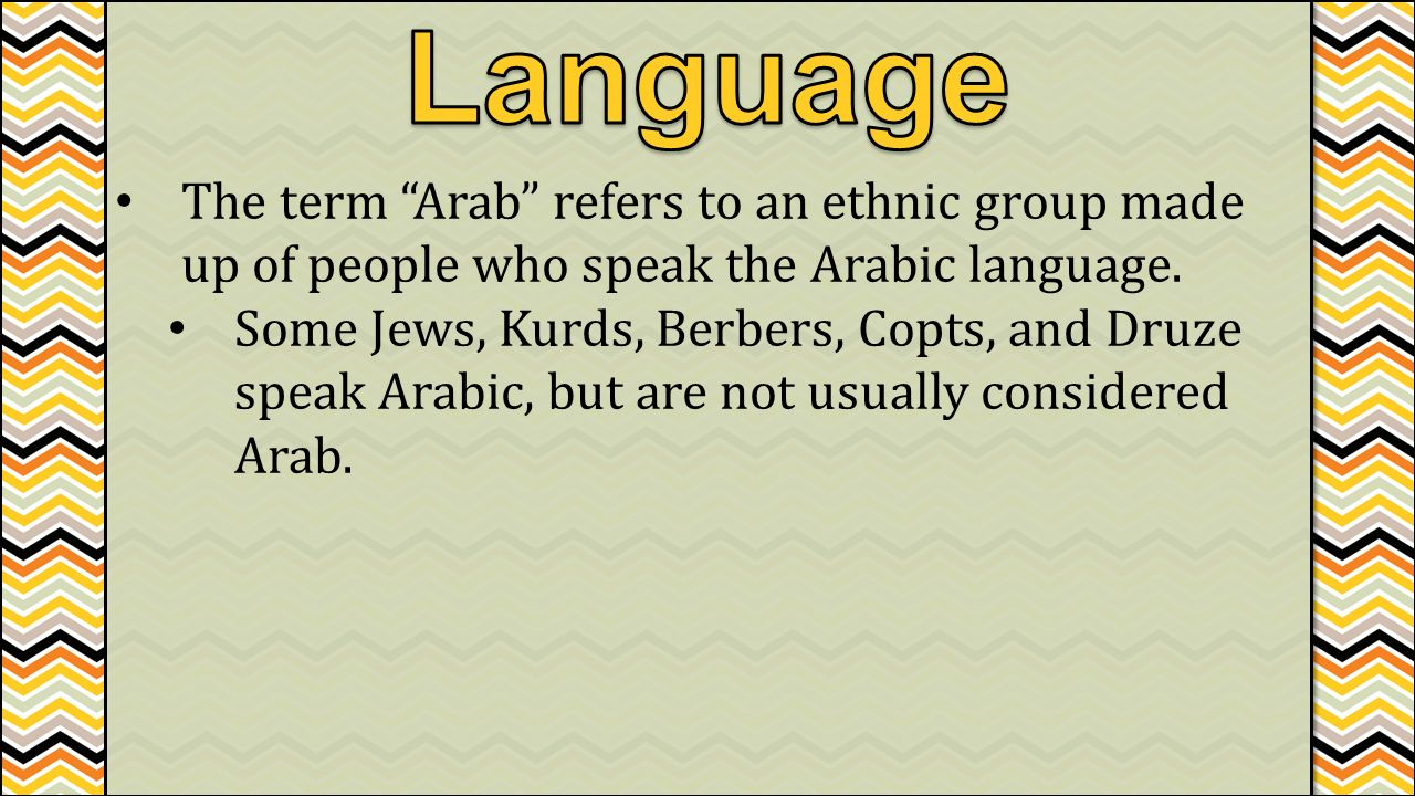 how to talk arabic language