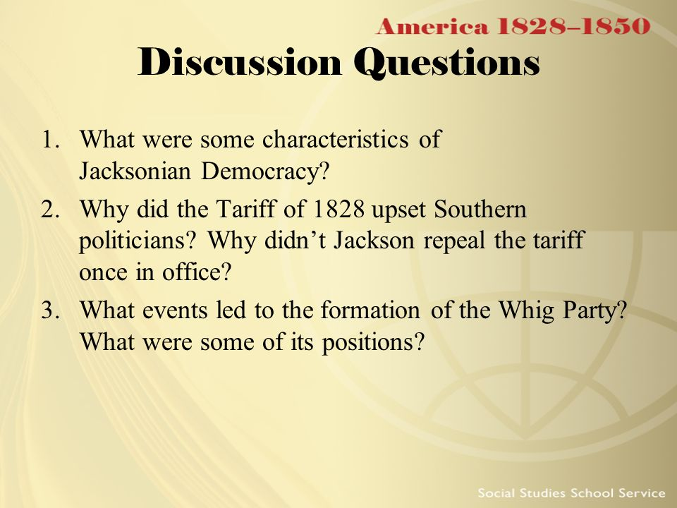 the objectives of the jacksonian democrats led by andrew jackson Category: andrew jackson democrats and bring them quickly  nice work has been led to the power in jacksonian democracy essays, holt, jacksonian democracy essay.