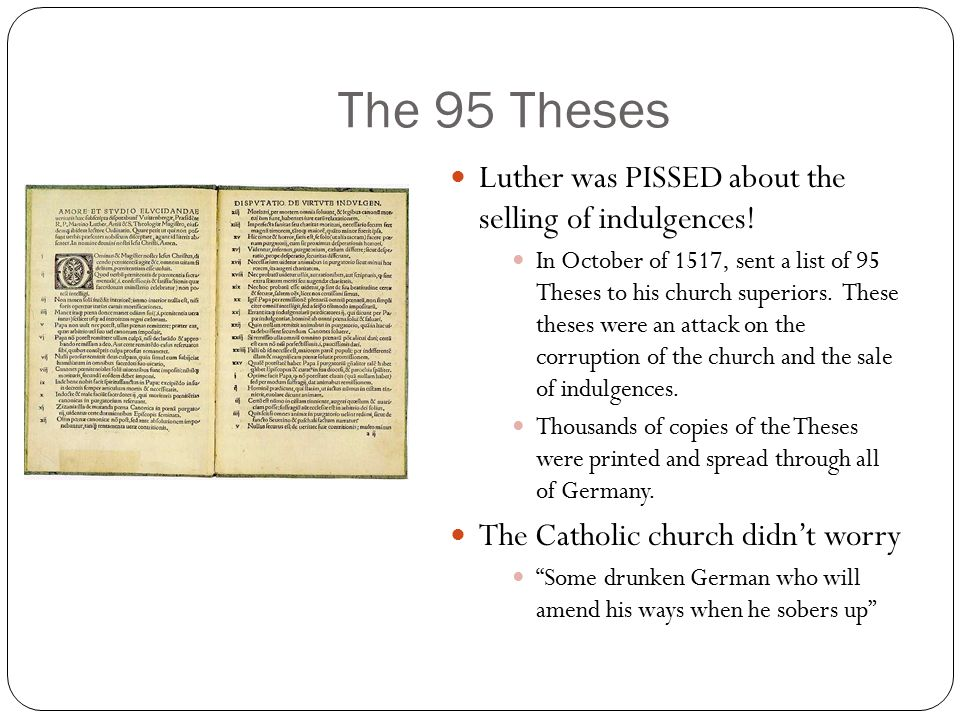 the protestant reformation ppt video online  the 95 theses luther was pissed about the selling of indulgences