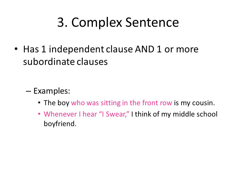 sentence and independent clause