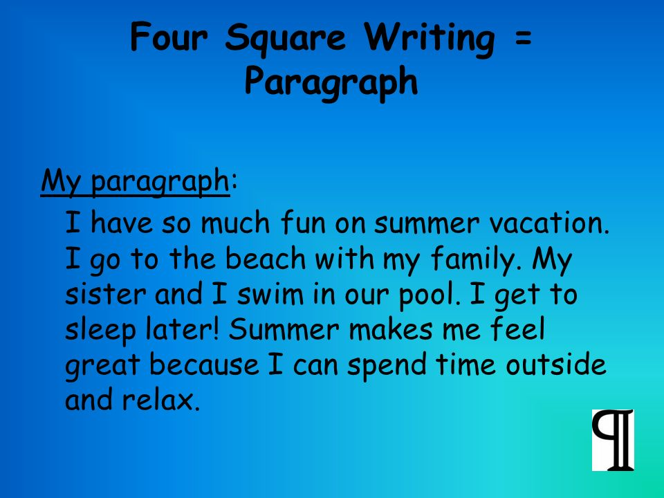 My favourite summer vacation essay