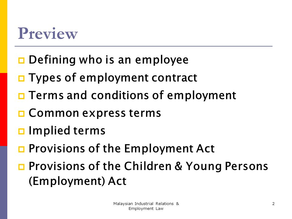 Chapter Two The Employment Act And Related Acts  Ppt Video Online