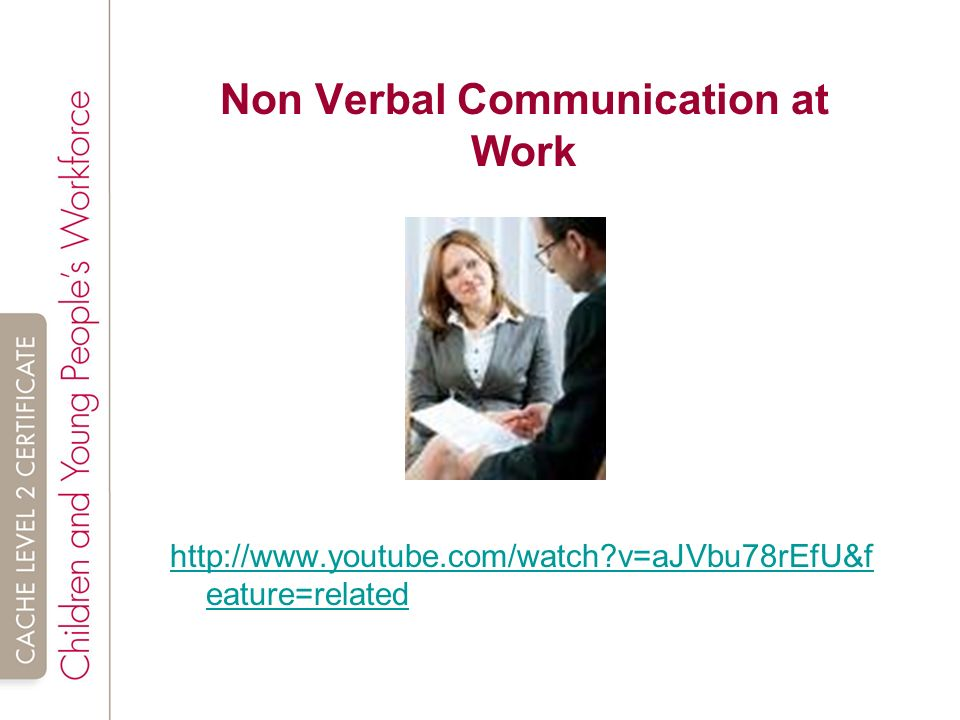 Unit SHC 21 Introduction to communication in children and young – Non Verbal Communication Worksheets