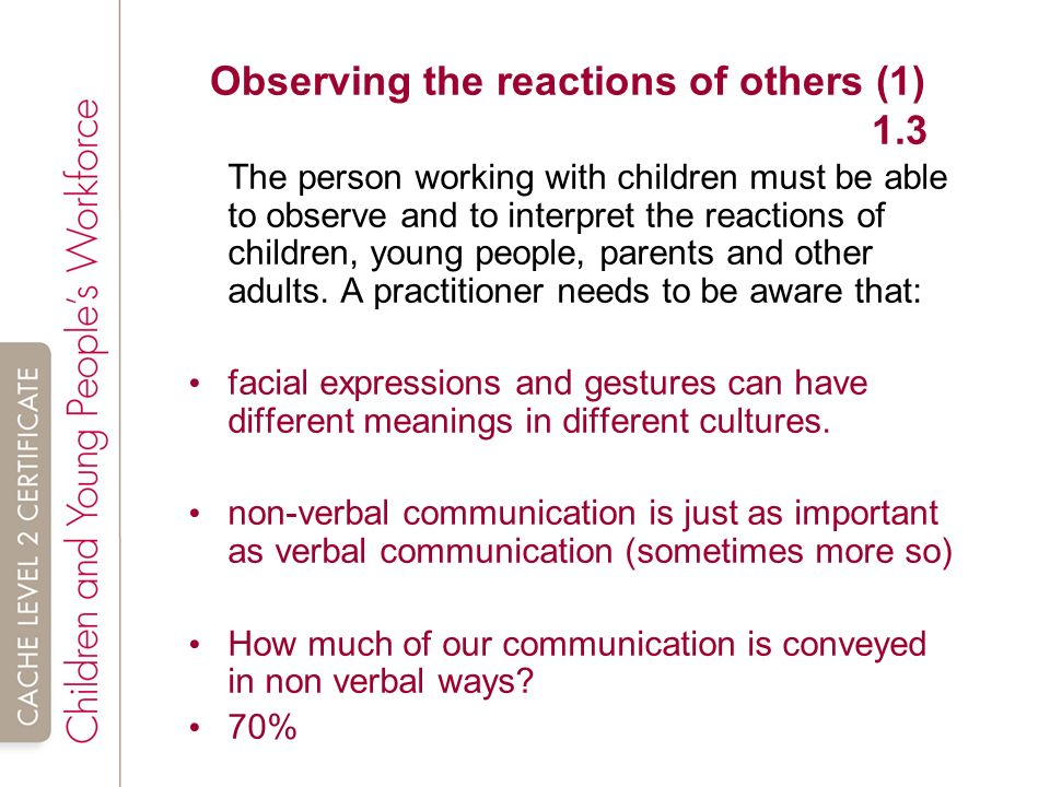 explain how communication affects relationships in the work setting Explain how effective communication affects all aspects of : the way communication affects how practitioners work introduction to communication in health, social care or children's and young people's settings: 9.