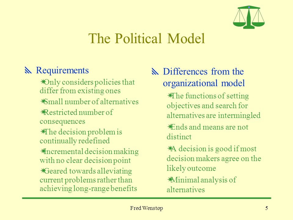 rational and incremental policy making Compare and contrast rational, incremental, and garbage can approaches to  decision making, what is your opinion of these methods rational decision.
