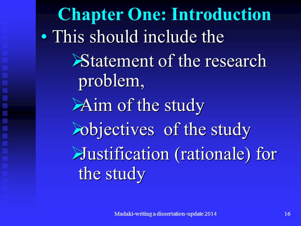 thesis chapter one introduction Your thesis introduction to clarify this blog is about the introduction of the thesis, not about the introduction for each thesis chapter.