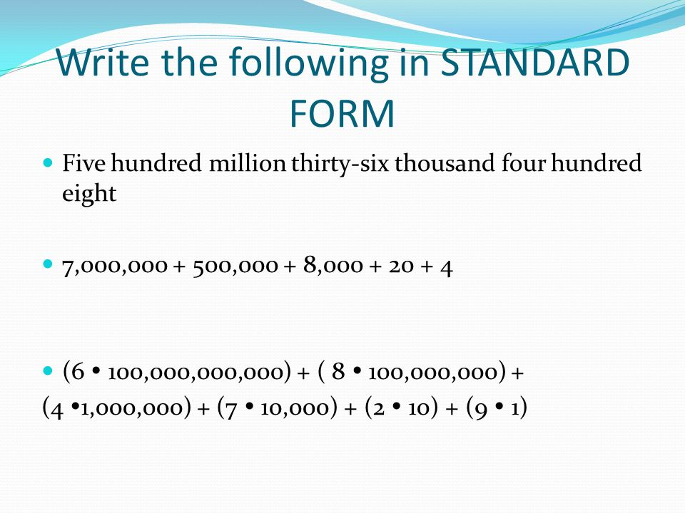 Number Sense Quiz Review Ppt Video Online Download