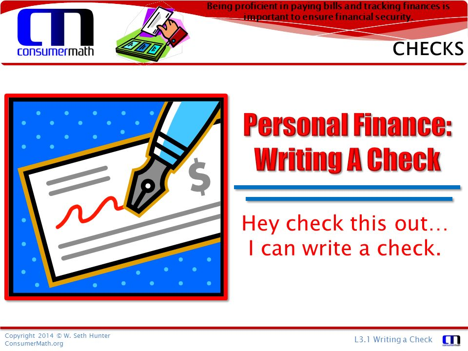 how to write out a personal check