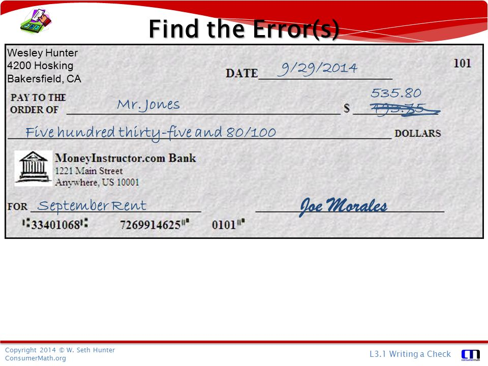 How to Write a Check With Dollars & Zero Cents