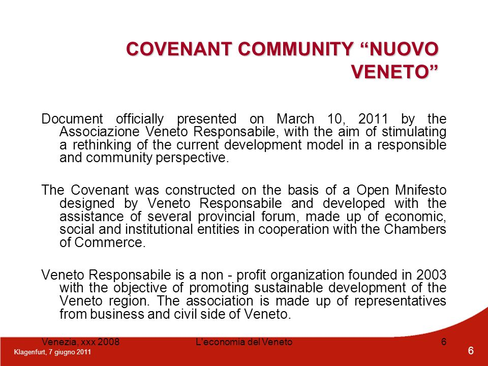 COVENANT COMMUNITY NUOVO VENETO