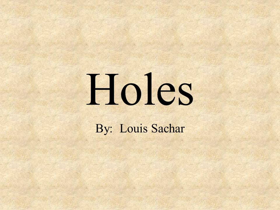 holes louis sachar pdf download