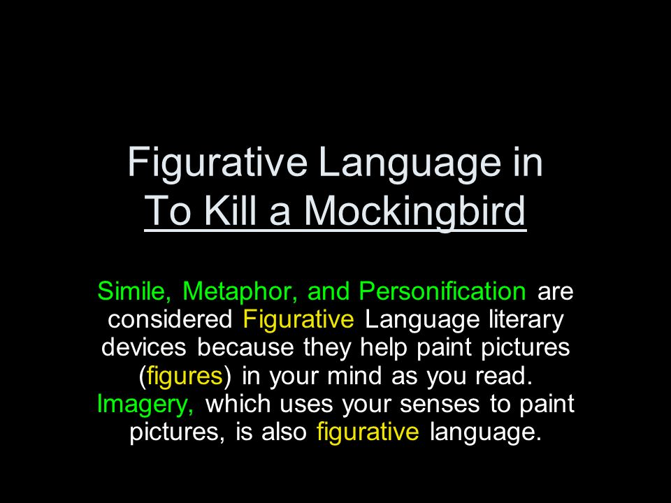 to kill a mockingbird metaphor meaning essay To kill a mockingbird: top ten quotes, free study guides and book notes including comprehensive chapter analysis, complete summary analysis, author biography information, character profiles, theme analysis, metaphor analysis, and top ten quotes on classic literature.