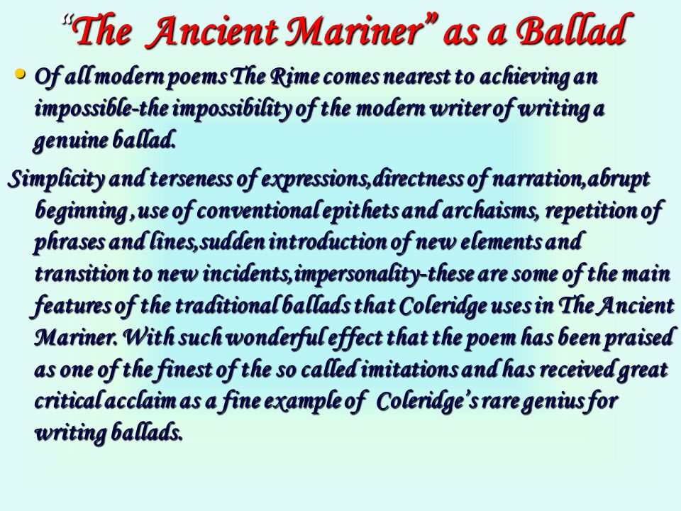 essay on imitations of the ancient ballad Read this article to know what is ballad in literature, characteristics of a ballad, types of ballads, a ballad in literature, ballad literary definition a ballad is a poem that tells a fairly simple story (narrative) ballads are often used in songs & have a musical quality in them.
