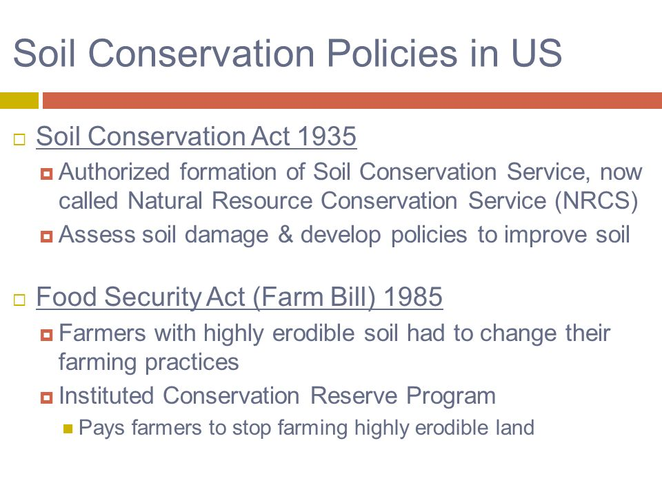 14 soil resources ppt video online download for Soil conservation act