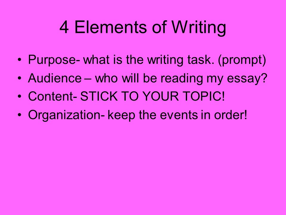 Elements of an essay audience