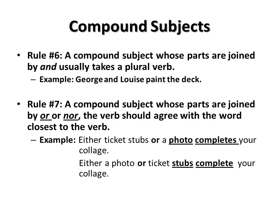 Subject And Verb Agreement Ppt Video Online