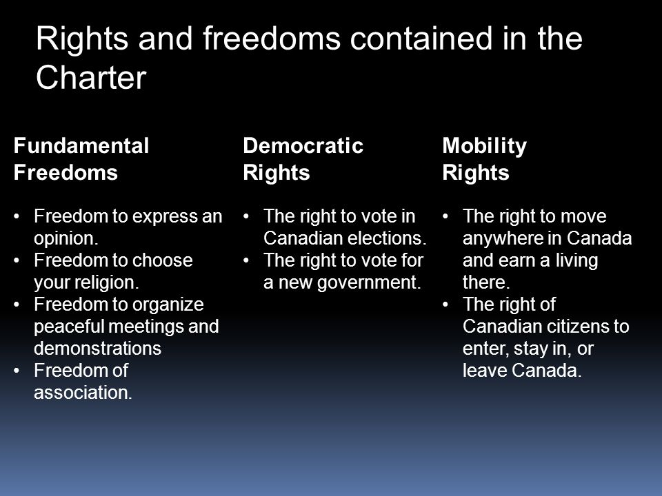 Charter of Rights and Freedoms - ppt video online download
