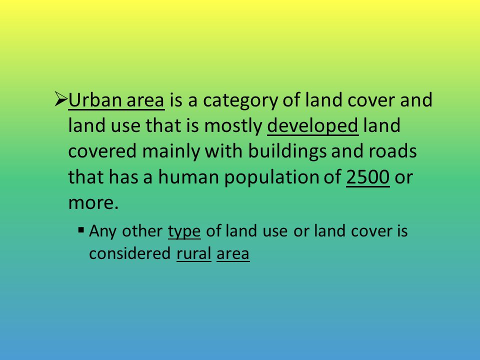 The Urbanization of the Human Population
