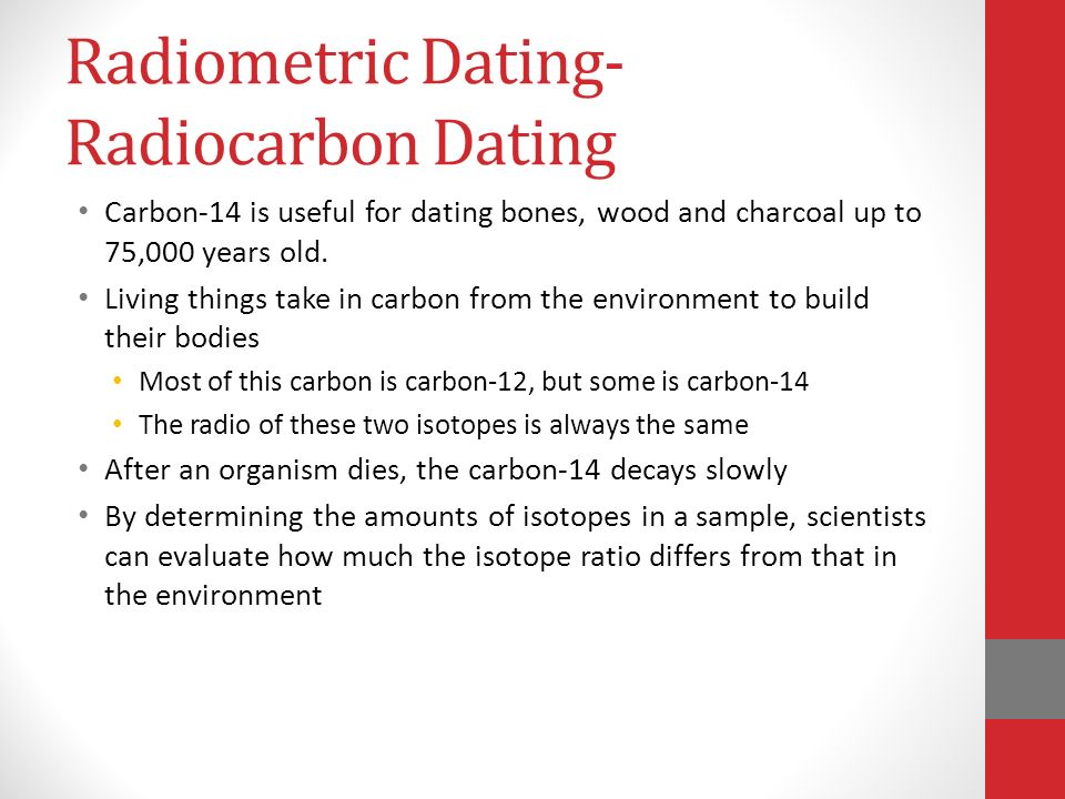 Radiometric dating sentences