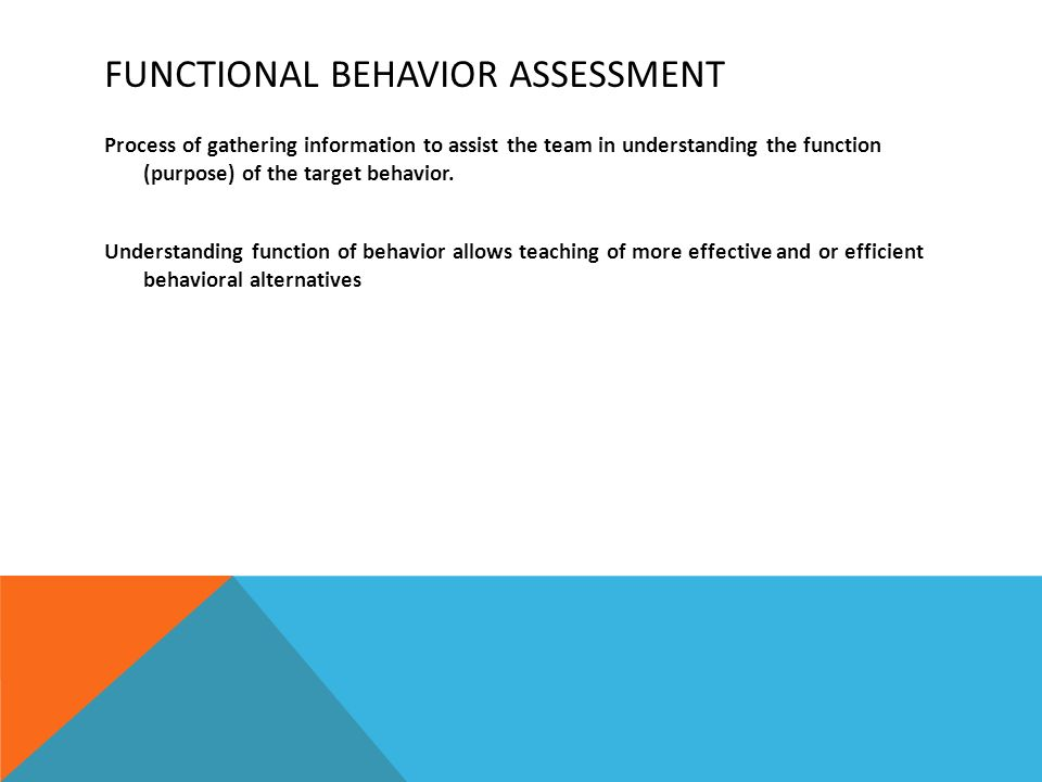 Functional Behavior Assessment  Ppt Download