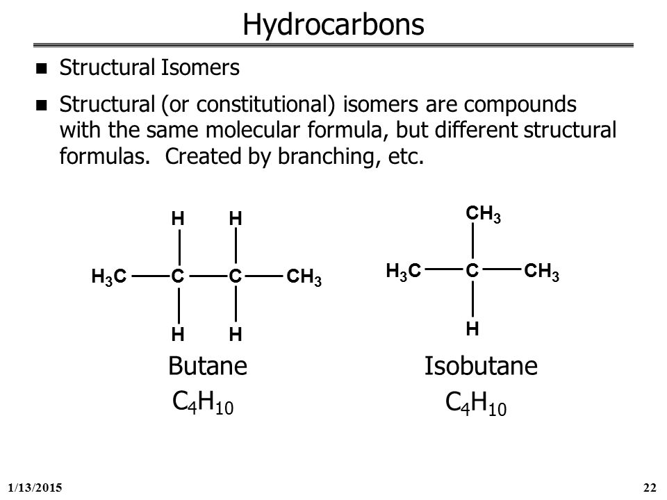 how to find isomers of hydrocarbons