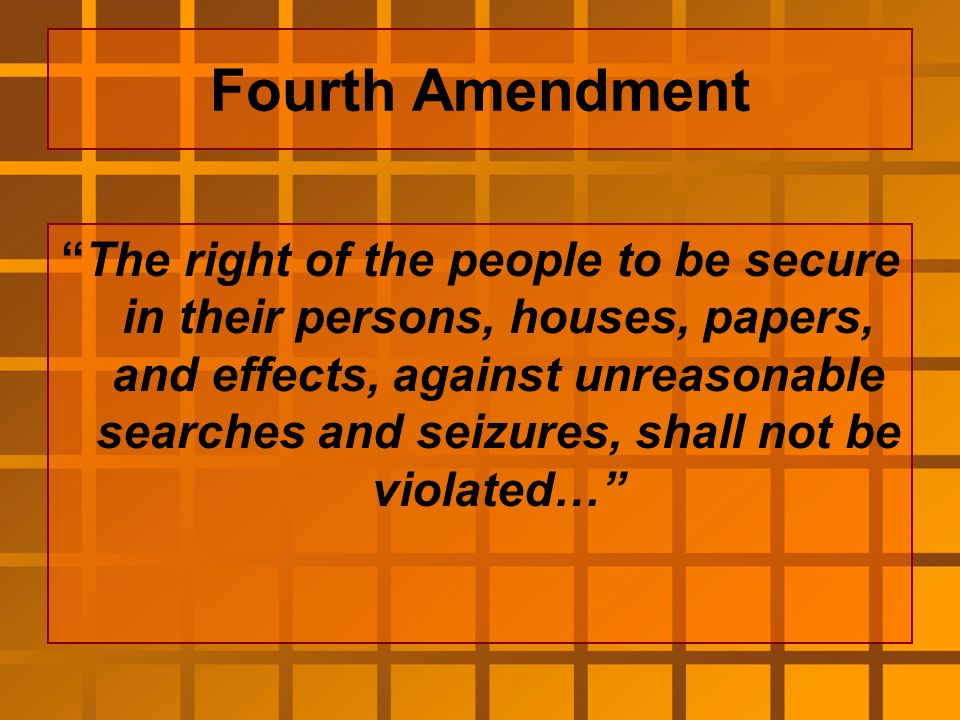 the fourth amendment search and seizure Buy search and seizure: a treatise on the fourth amendment, 5th (west's criminal practice series) at legal solutions from thomson reuters.