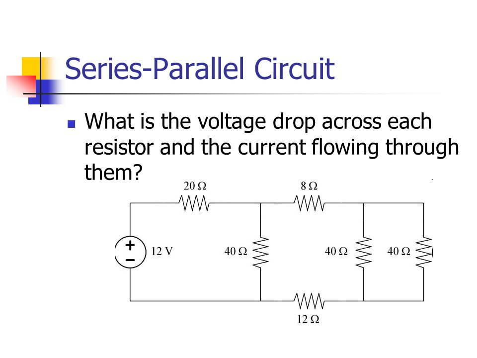 how to find voltage in series parallel circuit