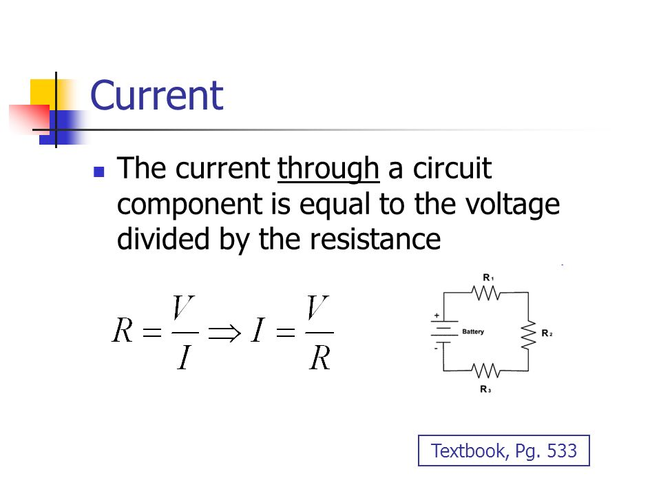 electric current and resistance Electronics tutorial about the relationship between voltage current and resistance in an electrical circuit and their relationship using ohms law.