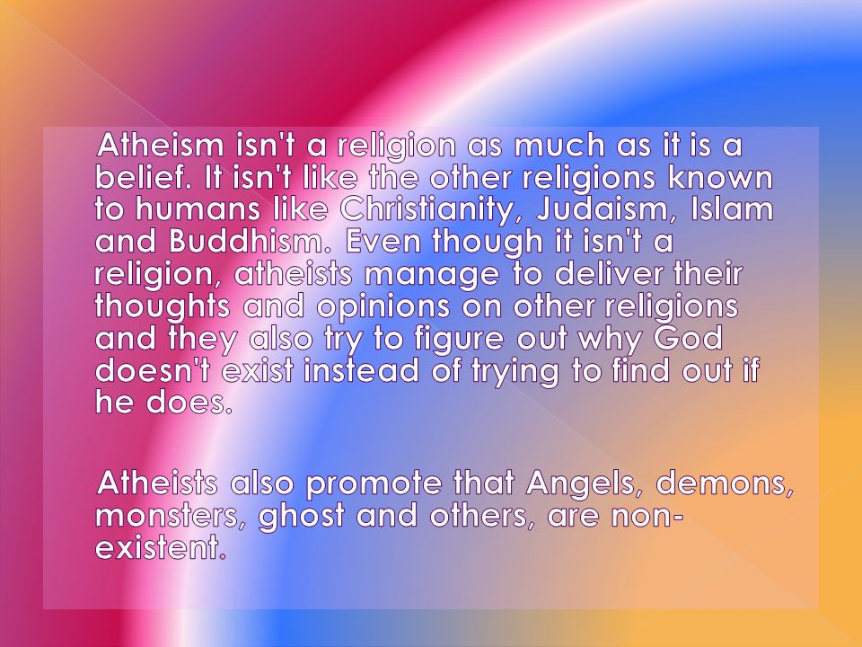 why does religion exist In some places, such as the united states, it's even a point of contention as to how much separation truly exists, should exist, or was ever intended to exist between religion and governance strong arguments exist for both sides.